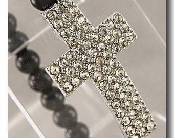 Sideways Cross Bracelet
