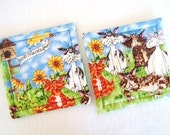 Birds Rule Cats Drool Quilted Coasters (Set of 2)