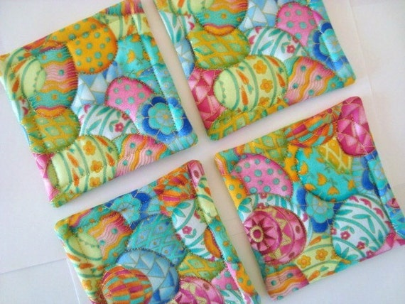 Easter Egg Quilted Coasters (Set of 4)