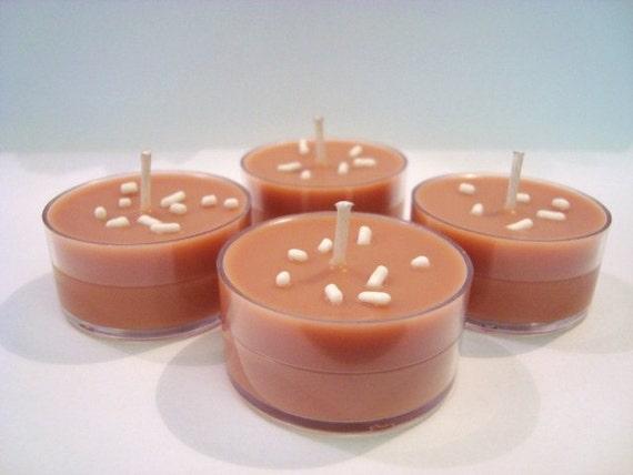 Hot cocoa SOY Tea Light Candles (Set of 4)