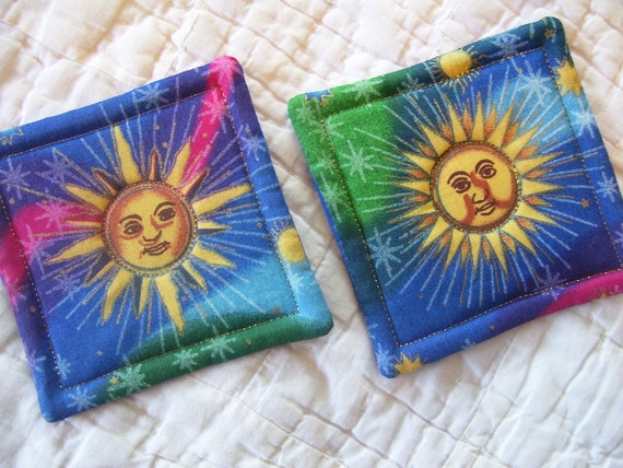 Sun Quilted Coasters (Set of 2)