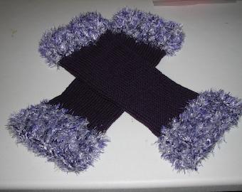 Leg Warmers Purple and White