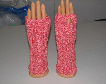 Candy Cable Fingerless Gloves