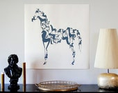 HUGE 3 foot square limited edition Horse print