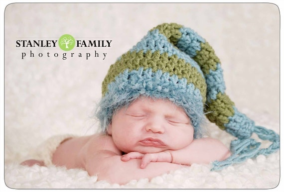 Cutest Baby Elf Hat--Great Photography Prop-Pick your Colors