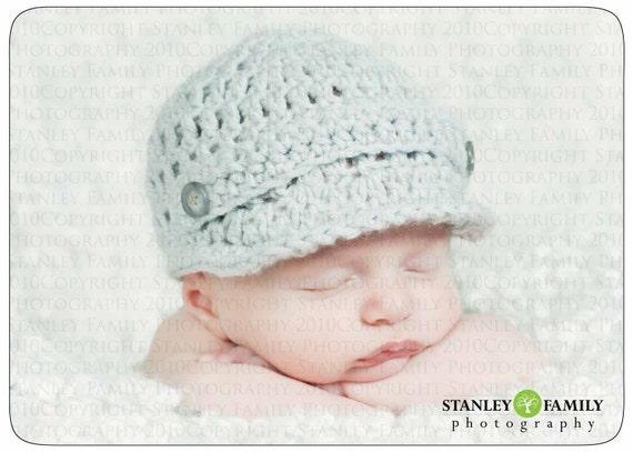 Sale, pick your color, Crochet Baby Newsboy Hat, crochet newborn newsboy hat, crochet infant newsboy hat, crochet newsboy hat