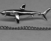 SHARK Tie Tack Solid Sterling Silver Free Domestic Shipping