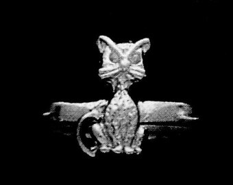 CAT Ring Sterling Silver Free Shipping