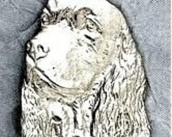 Large Springer Spaniel Dog Pendant  Sterling Free Shipping