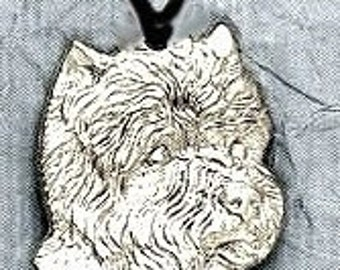 Large West Highland Terrier Dog Pendant  Sterling Free Shipping