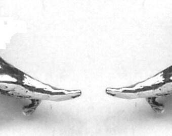 CERATOSAUR DINOSAUR Stud Earrings Sterling Silver Free Shipping