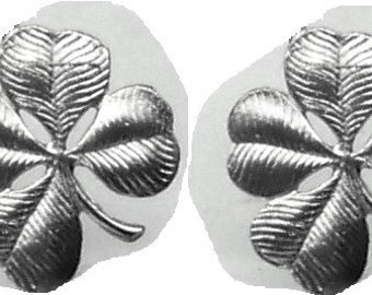 FOUR LEAF COLVER  Earrings Sterling Silver Free Shipping