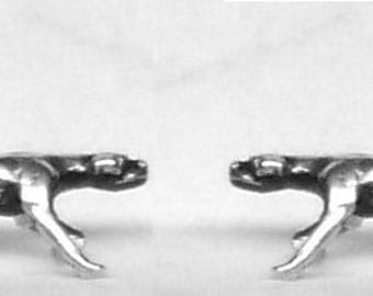 POINTER DOG STUD Earrings Sterling Silver Free Shipping