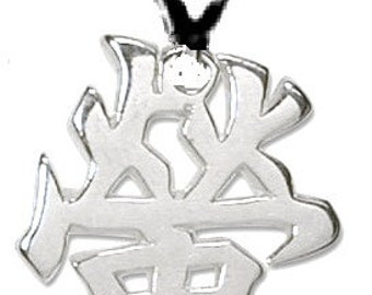 KANJI FIREFLY Pendant Sterling Silver Free Domestic Shipping
