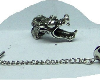 Dragon Tie Tack Sterling Silver Free Domestic Shipping