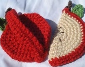 Acrylic Non-Scratch Country Apples Dish Scrubbies/Scrubbers - Set of 2 BLACK FRIDAY ETSY
