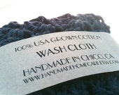 Dark Heather Ashy Blue Single Cotton Wash Cloth - Ships for 1.00 in the USA BLACK FRIDAY ETSY