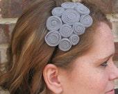 Rosettes Headband - Gray