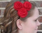 Trilogy Rose Headband - Lipstick Red