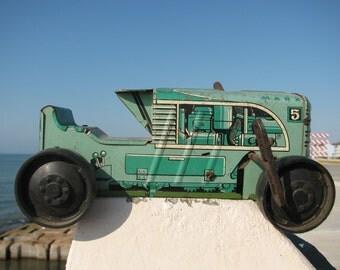 Antique 1950's Marx tin litho Tractor wind up vintage toys Farm Tractors metal Farming  Toy classic Farmer Truck retro 50's Farming