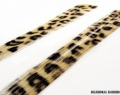 Pair of two Black and Blonde leopard hair extensions