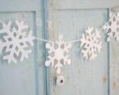THREE snowflake garlands buntings