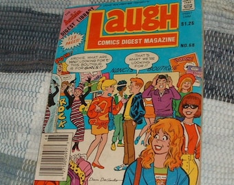 Number 68 January 1987 Archie Library Laugh Comic Book.