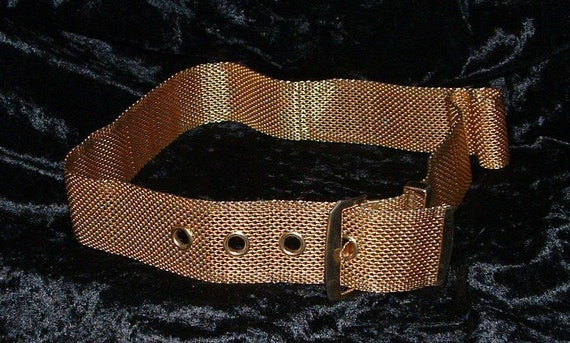 Vintage Gold Mesh Ladies Belt.