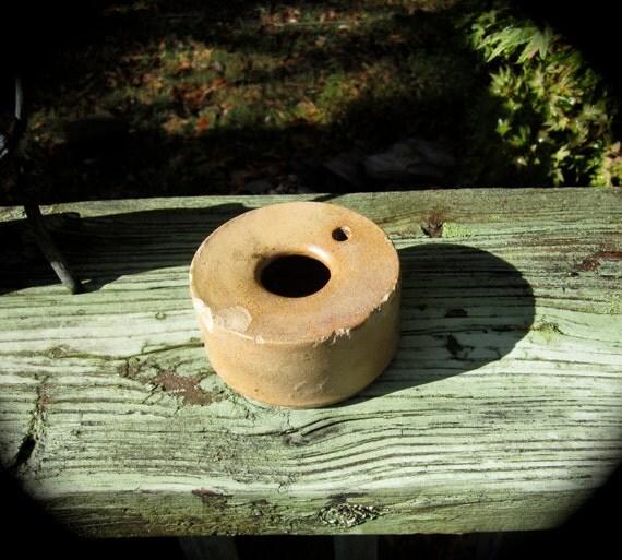 VIntage Salt Glazed Ceramic Ink Well.