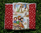 Retro Cowgirl Burp Cloths (Set of 3) - READY TO SHIP - GREAT GIFT