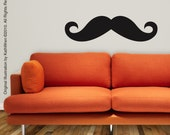 Moustache - Vinyl Wall Decal - FREE SHIP