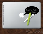 Chalkboard decal for your laptop - Write your own message - FREE ship