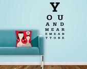 Eye Chart - Vinyl Wall Decal