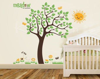 NEW - Meadow Tree by KathWren - Vinyl Wall Decal