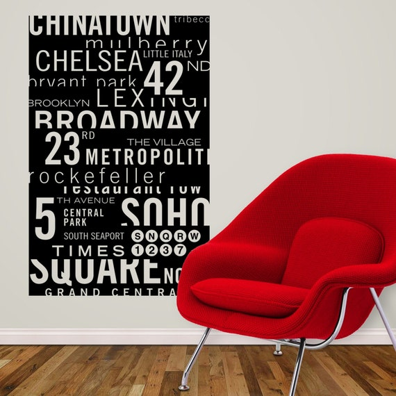 New York Subway Sign by KathWren - Vinyl Wall Decal