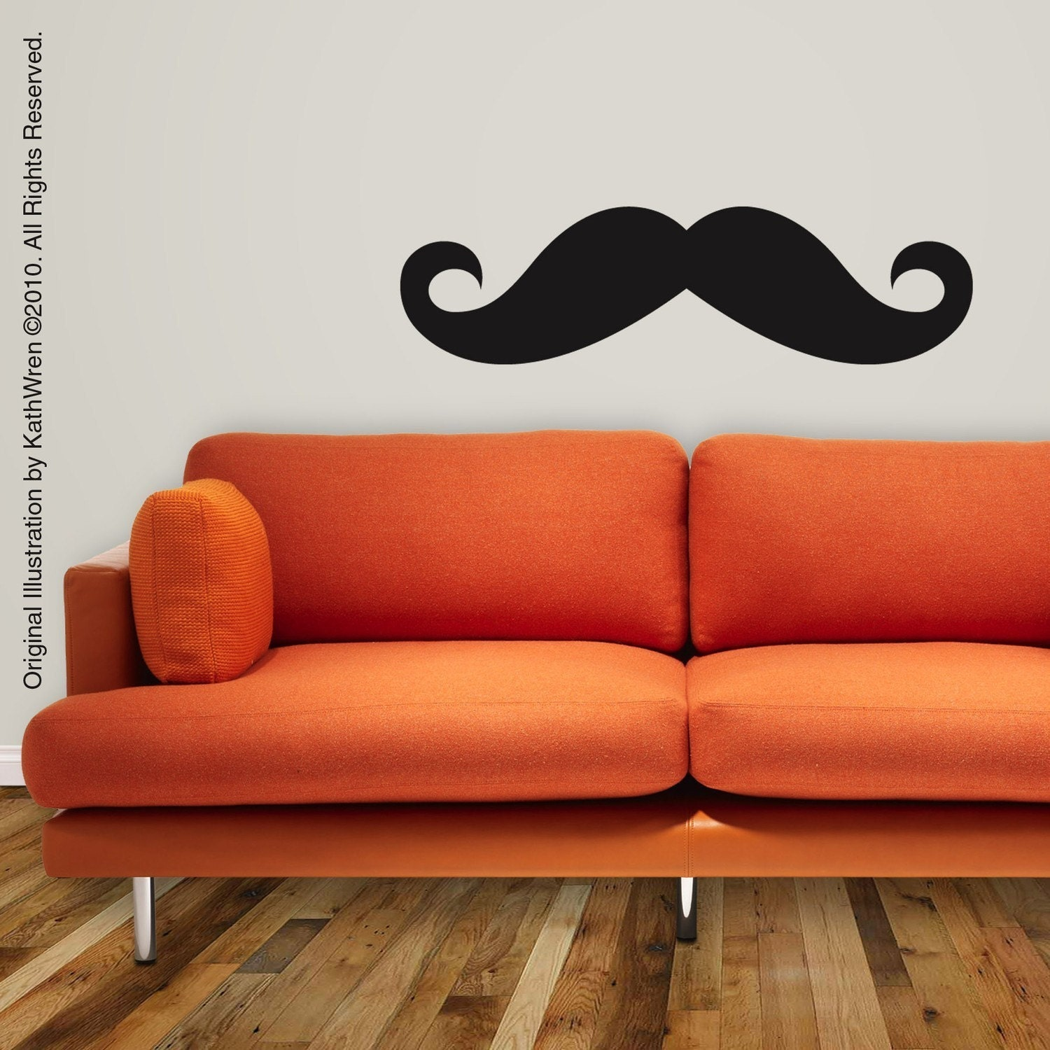 moustache vinyl wall decal free ship by kathwren on etsy walltat launches fall 2012 collection of wall decals