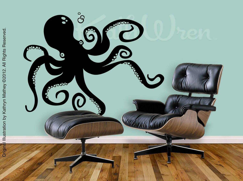 Wall Decal Octopus : Octopus By KathWren Original Vinyl Wall Decal