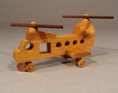 CHINOOK HELICOPTER - Handcrafted from Fine Hardwoods / Maple, Oak and Walnut