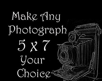 5 x 7 Personalize Your Order - You PIck the Photograph