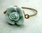 pale blue rose cuff bangle bracelet