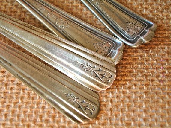 vintage silver plate teaspoons collection FIVE DOLLAR SALE