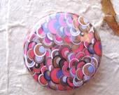 Art Badge - 25mm Round - Psychedlic Circles