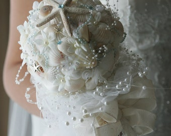 Beach Wedding Seashell Bouquets