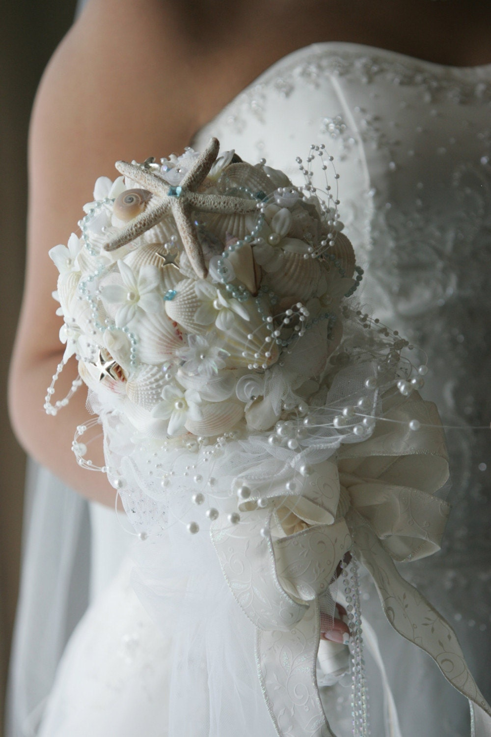 beach wedding seashell bouquets. Black Bedroom Furniture Sets. Home Design Ideas