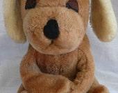 1977 Vintage DAKIN Puppy Dog Hugging, Plush, Light Brown