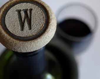 MONOGRAM WINE Bottle STOPPER, Set of 3