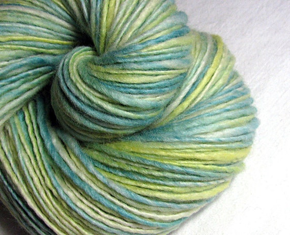 Handspun Yarn Thick and Thin Single  Blue Faced Leicester 'June'