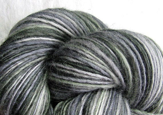 Handspun Yarn Thick and Thin Single Blue Faced Leicester 'New York'