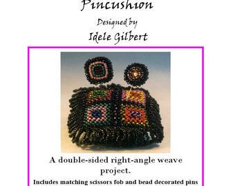 Right Angle Weave Harlequin Double-Sided Pincushion PDF file
