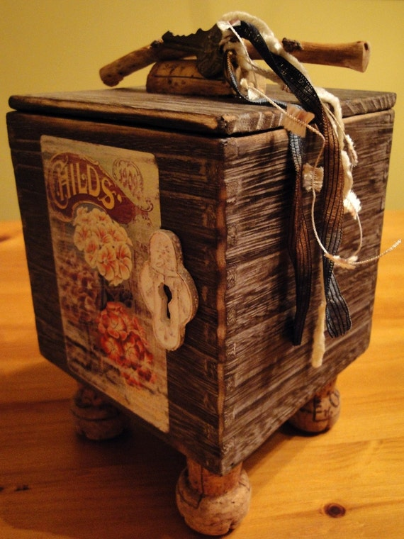 Secret Garden Wood Wish Box